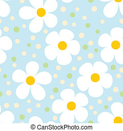 Modern Light Seamless Pattern with Camomiles