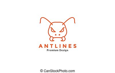 modern line ant head  logo vector icon symbol graphic design illustration