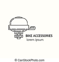 Modern Linear Style Bicycle Accessories Logotype Template...