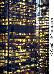 Modern Lit Buildings
