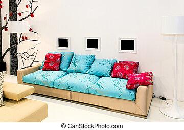 Modern living area - Big and modern living area with sofa...