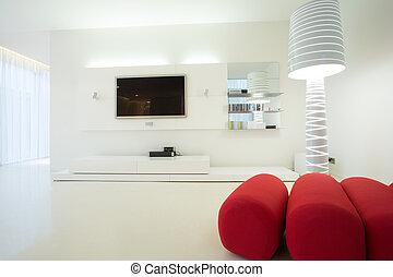 Modern living room - Close-up of designed furniture in...