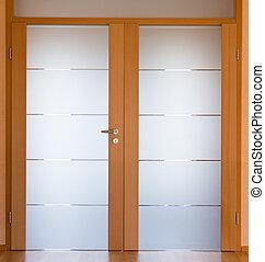 Modern living room door