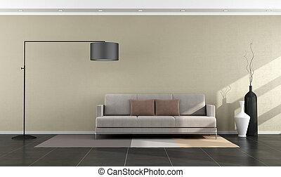 Modern living room - Minimalist modern living room with sofa...