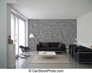 modern living room interior - modern living room with...