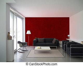 modern living room interior - modern living room withma roon...