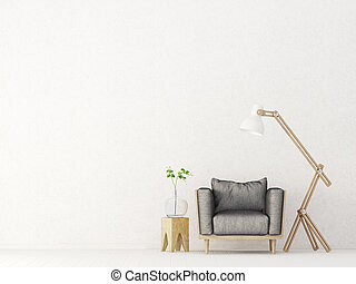 interior - modern living room interior with furniture. 3d...