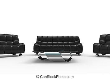 Modern Living Room Leather