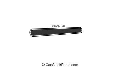 modern loading bar on white background