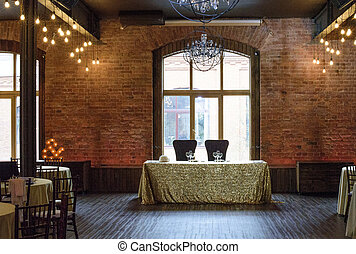 modern loft design table for guests