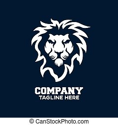 Modern logo lion head. Vector illustration.
