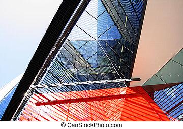 modern, london, építészet