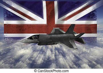 modern, lopva, lobogó, flighter, uk, f-35