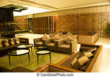 Modern Lounge - Image of a modern lounge.