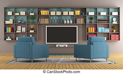 Modern lounge with tv