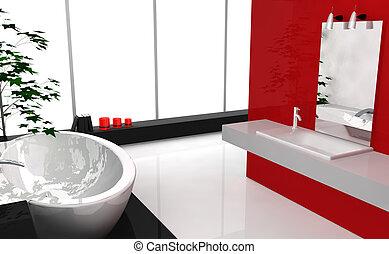 Modern Luxury Bathroom - Modern luxury bathroom with...