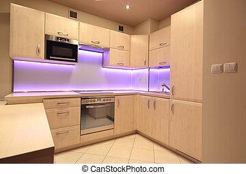 rosa leuchtdiode modern beleuchtung luxus kueche stockfotografie suche bilder und foto. Black Bedroom Furniture Sets. Home Design Ideas