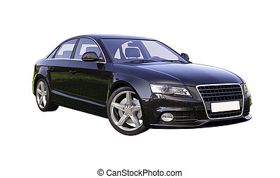 modern, luxusauto, freigestellt
