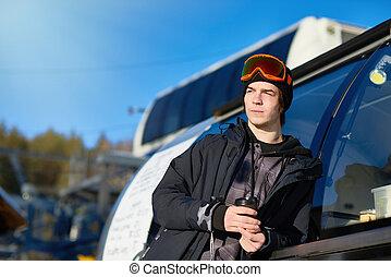 Modern Man at Ski Resort