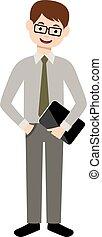 Modern man with a gadget