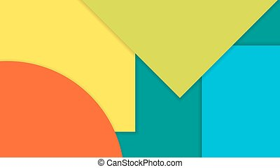 Modern material design background.  Shapes with shadows.
