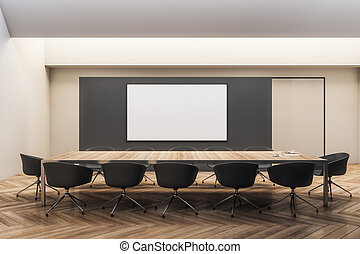 Modern meeting room with frame