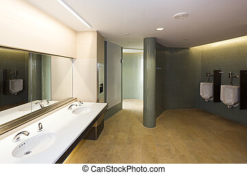 Modern mens room in a convention center