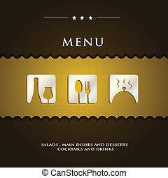 modern menu sample presentation