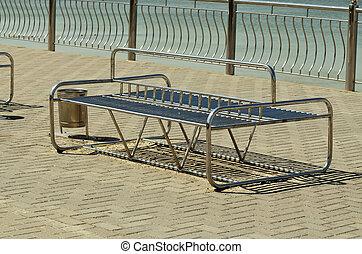 Modern metal bench