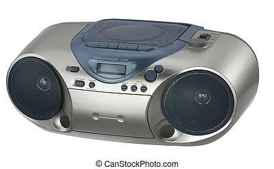 modern metallic colored radio
