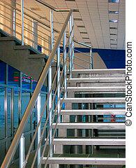 Modern metallic stairs