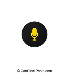 Modern mic button for mobile apps and web sites.