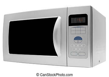 Modern microwave stove on a white background