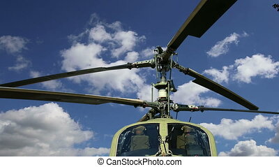 modern military helicopters - Details of the rotor and part...