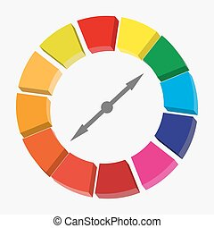 Modern minimal infographics circle. Vector illustration eps10