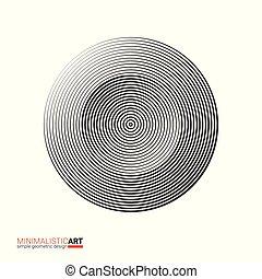 Modern minimalistic geometric design of logo. Simple black...