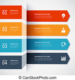 Modern minimalistic infographics options banner