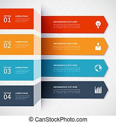 Modern minimalistic infographics options banner