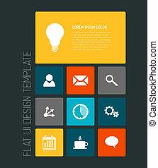 Modern mobile phone flat user interface