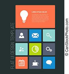 Modern mobile phone flat user interface - Modern smartphone...