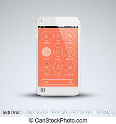 Modern mobile phone with flat user interface - Modern mobile...