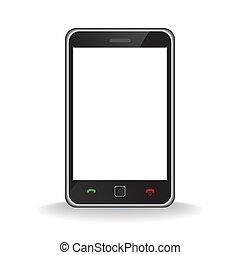 Modern mobile smart phone - Illustration of a modern smart ...