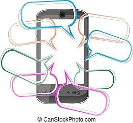 Modern mobile smart phone. Sending SMS Messages