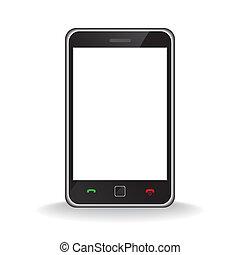 Modern mobile smart phone - Vector - Illustration of a...