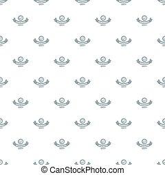 Modern mono wheel pattern seamless