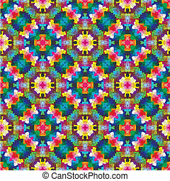 Modern mosaic in oriental style - Symetric vector based ...