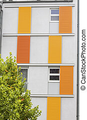 modern multi-party house - modern block of flats, symbol of...