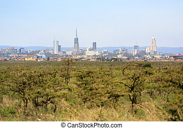 Nairobi cityscape - capital city of Kenya - Modern Nairobi...