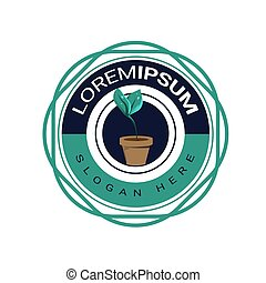 Modern natural badge logo template vector eps 10