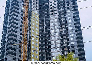 Modern new multi-storey building under construction